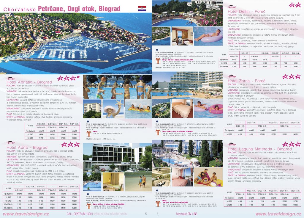 Grafický návrh - katalóg cestovnej agentúry